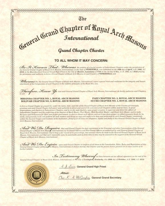 Carta Patente Gran Capitulo